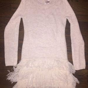 H&M Divided Fringe Sweater Dress